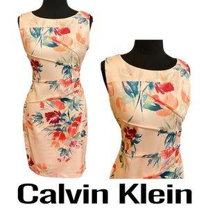 Calvin Klein Sleeveless Floral Dress Size 10